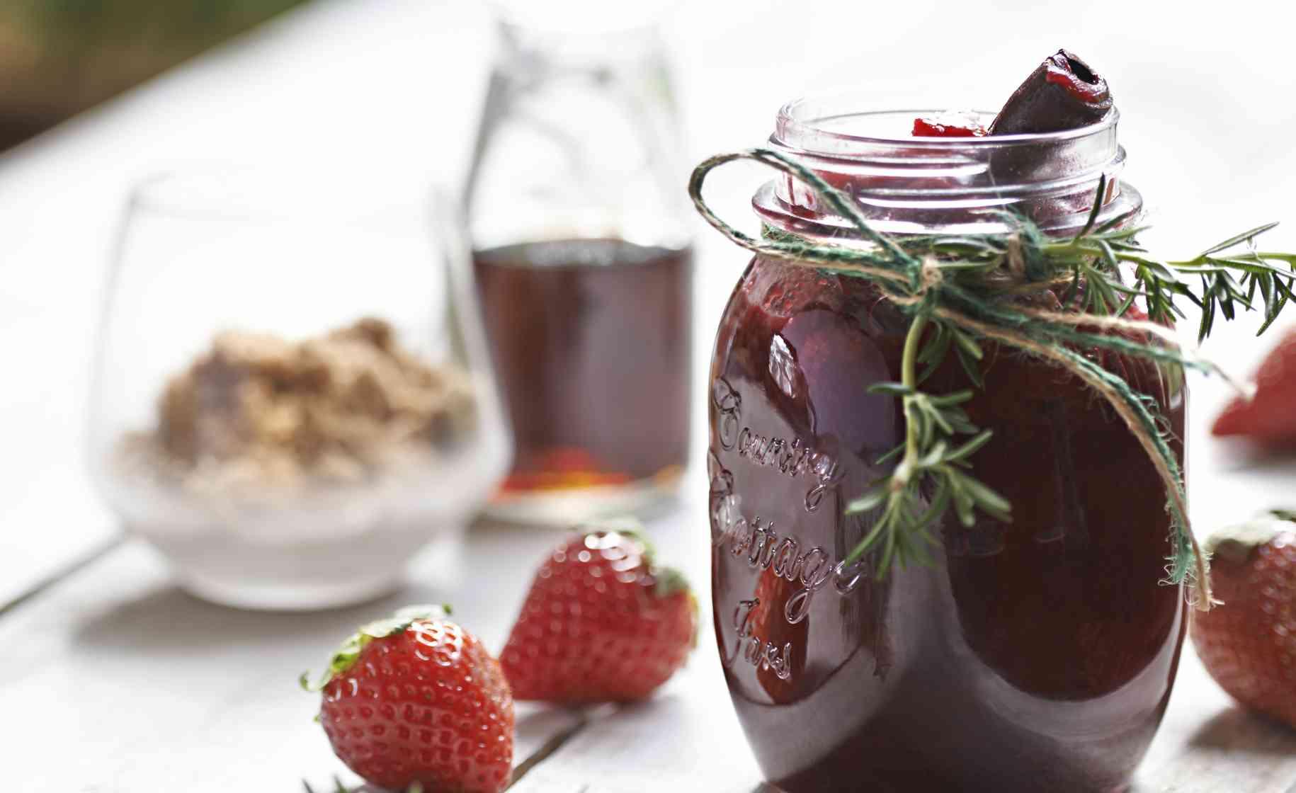 Strawberry beet jam