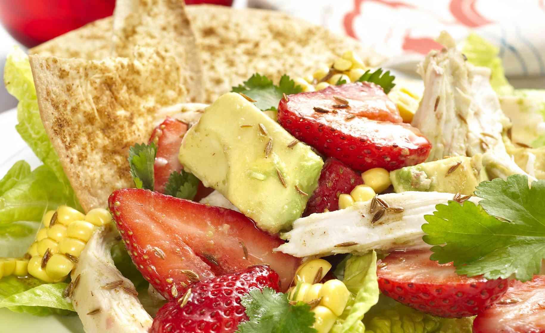 chicken strawberry mexican salad