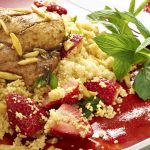 moroccan chicken with strawberry cous cous
