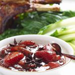 pork with star anise and strawberry