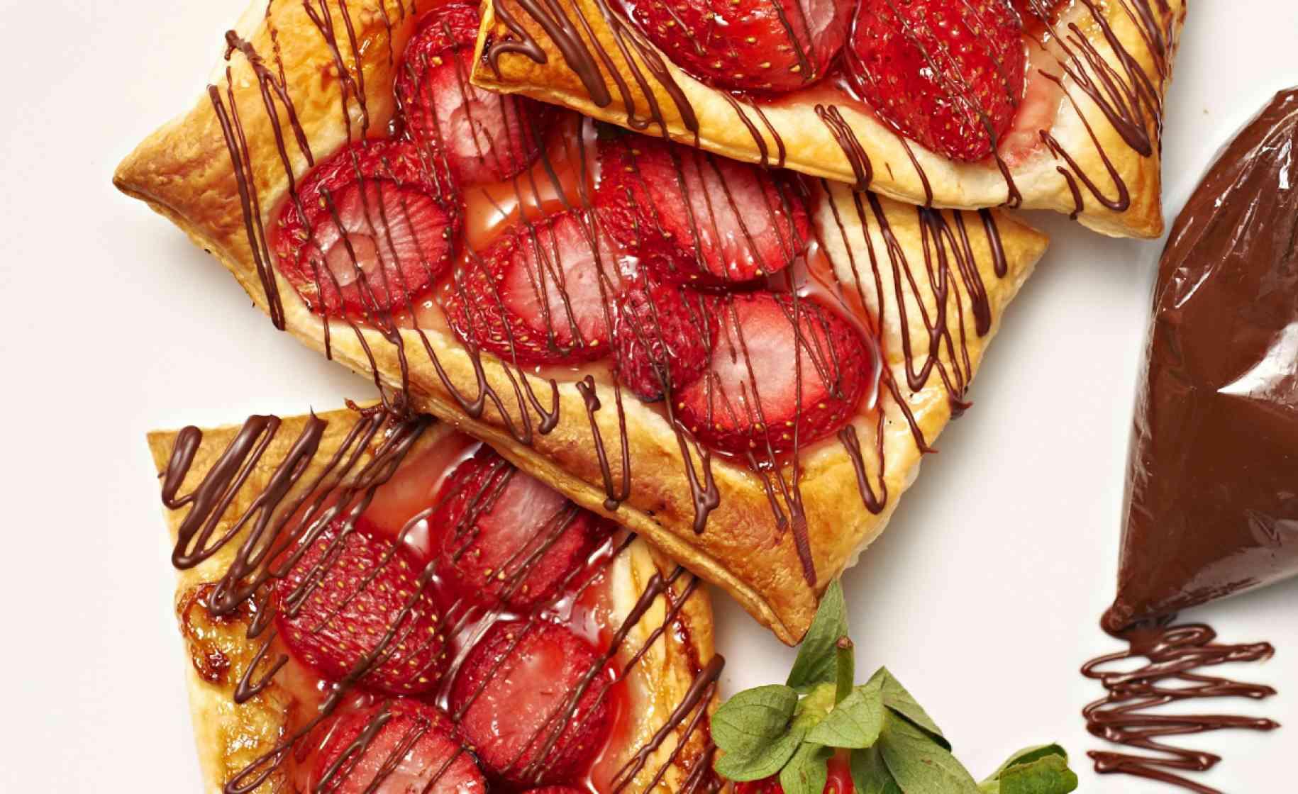 sticky strawberry danish