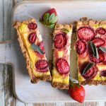 hazelnut strawberry tart