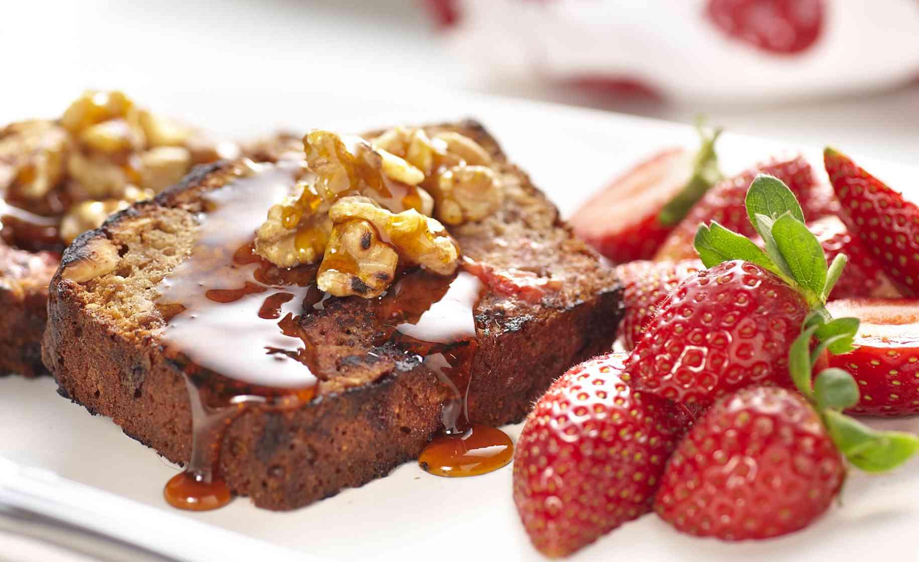 strawberry oat loaf