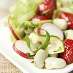 strawberry radish broad bean salad