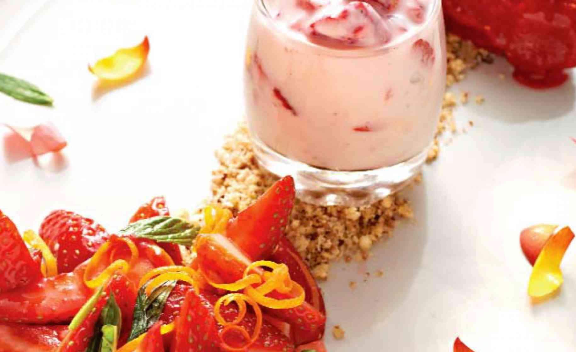 strawberry tasting plate
