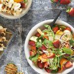 thai strawberry salad with squid